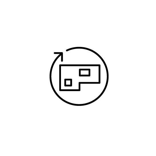 Live platform optimize real estate icon