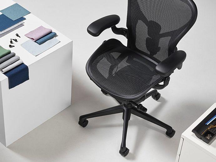 Ocean bound plastic herman miller aeron chair