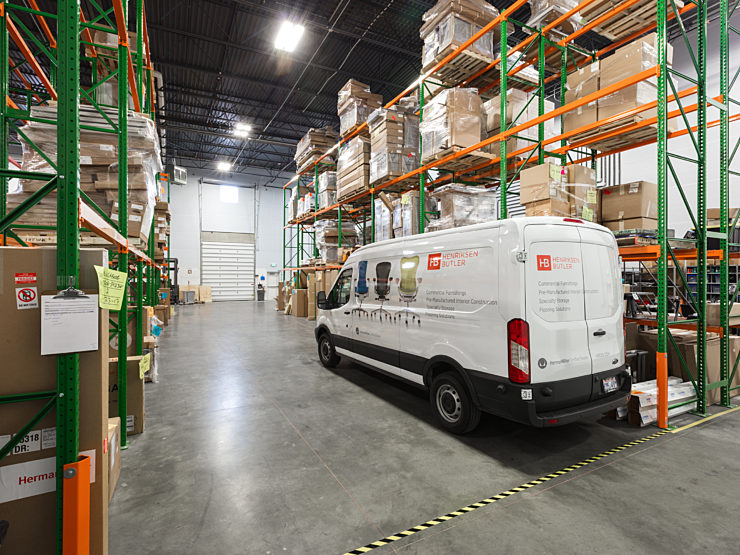 Van in Warehouse