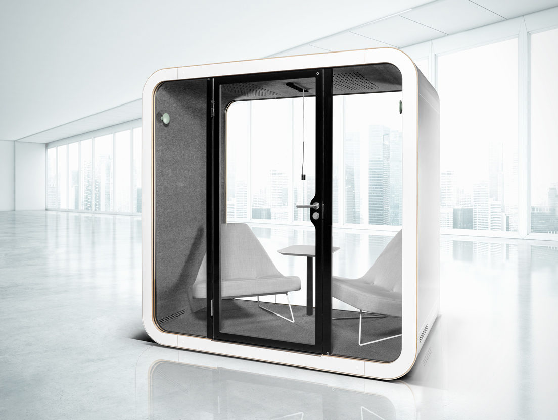 Acoustical phone booth from Framery Acoustics