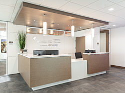 Reception area at the Timpanogos Regional Hospital Cancer Center