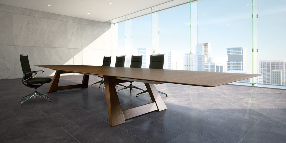 Traverse conference table with wire management from Okamura