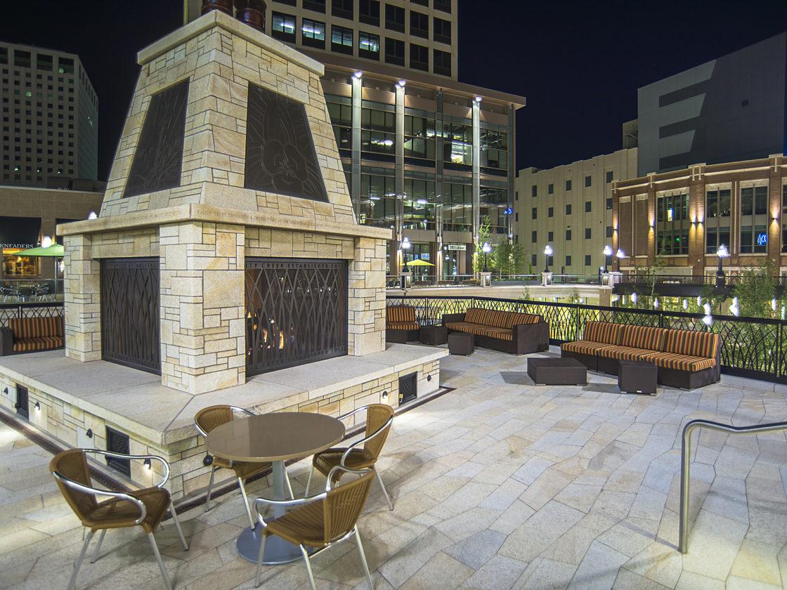 Outdoor furniture at City Creek Mall in Salt Lake City Utah